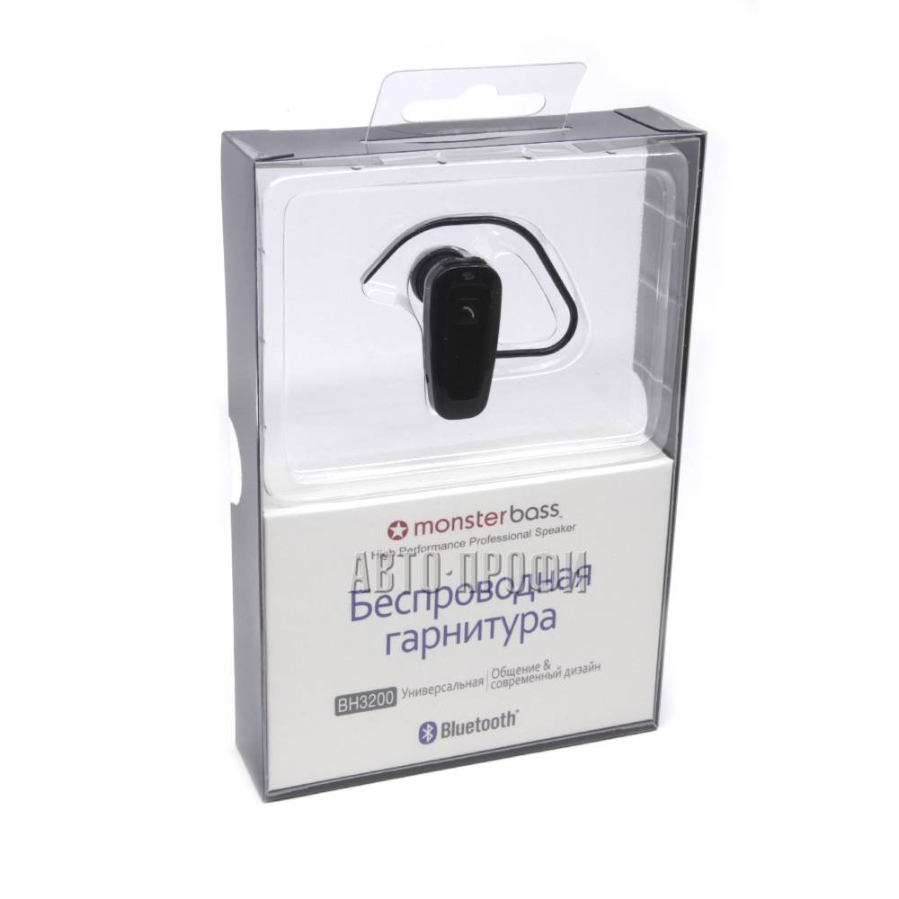 Bluetooth гарнитура Monsterbass BH3200